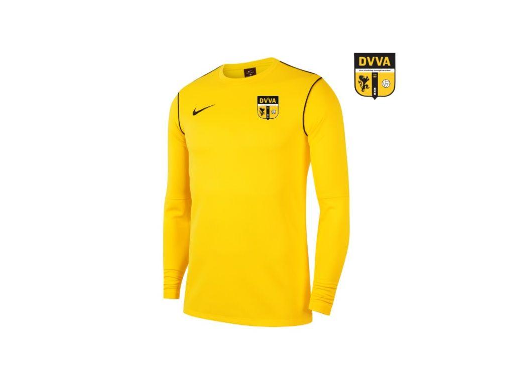 DVVA Nike Dri-FIT Park 20 Crew Top Geel